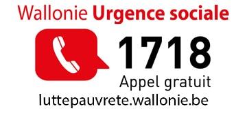 Wallonie Urgence Sociale : Numéro gratuit 1718