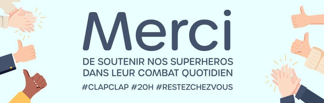 Merci de soutenir nos Superheros dans leur combat quotidien
